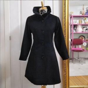 abrigo creado en la clase de costura creativa de doart