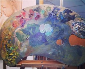 paleta de pintor gigante de doart
